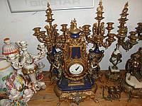ИТАЛЬЯНСКИЕ каминные часы с канделябрами