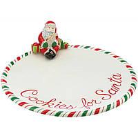 Тарелка COOKIES FOR SANTA, керамика, 25,4 см