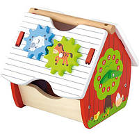 """Игрушка Viga Toys """"Веселая ферма"""" (50533) , деревянный домик, сортер"""