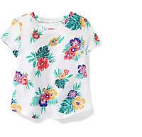 Трикотажная футболка с цветами Old Navy для девочки