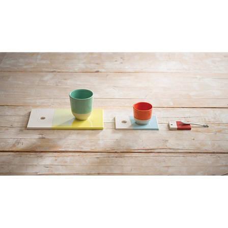 Подставка для чашки Color Lab, бирюзовая, 14 х 9 х 0,8 см, фото 2