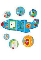 """Игрушка Viga Toys """"Самолет"""", деревянный самолет на стену, мультифункциональный развивающий центр, бизиборды"""