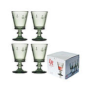Набор бокалов для вина Abeille, зеленый, 240 мл, Н 14 см, диам. 8,5 см, 4 пр.