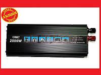 Преобразователь авто инвертор  UKC 12V-220V 2000W, фото 1