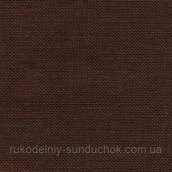 Ткань равномерного переплетения Zweigart Belfast 32 ct. 3609/9024 Dark Chocolate (темный шоколад)
