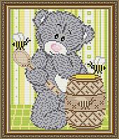 Набор для выкладки алмазной техникой «Мишка с медом»