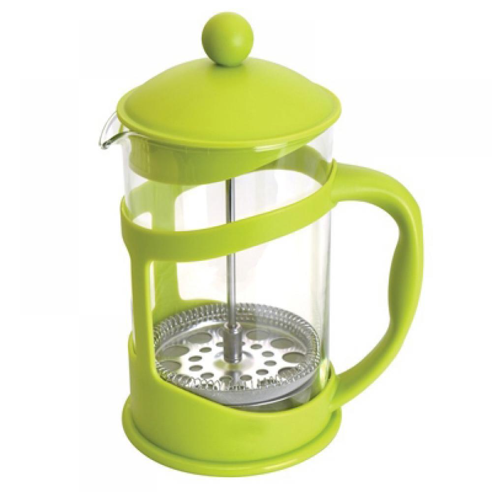 Френч-пресс для кофе/чая, стеклянный, в подставке лайм, 1,5 л