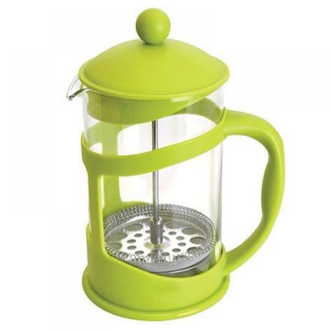 Френч-пресс для кофе/чая, стеклянный, в подставке лайм, 1,5 л, фото 2