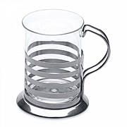 Набор из 2-х стеклянных стаканов чашек, 0,2 л.