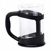 Стакан для чая стеклянный, в черной подставке, 200 мл (2 шт.)