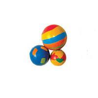Игрушка набор мячей (решетка, мягкий, радуга) 3,5 / 4 см 3шт Тріхіе (4132)