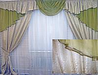 Комплект ламбрекен (№50) с шторами на карниз 2,5-3м. 050лш040