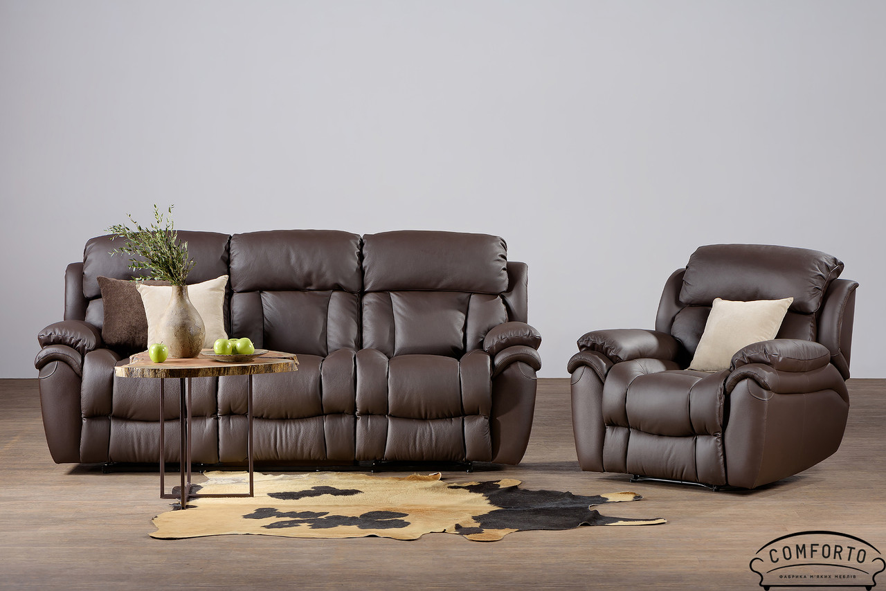Стильный кожаный диван Boston / Бостон