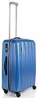 Малый пластиковый чемодан, квадратной формы, 4-колесный 39 л. ESSENCE/Sky Blue Lojel Lj-CF1366S_BLU, синий