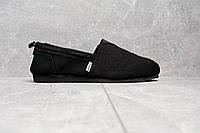 Слипоны мужские Toms D1434 черные