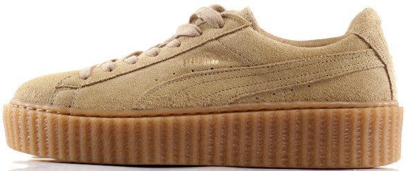 "ff9c0ce89340 Женские кроссовки Puma x Rihanna Creeper ""Wheat Gum"" Beige купить в ..."