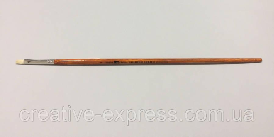 Щетина плоска 2023B № 1, д.р. пензель ART MASTER оранжево-мраморна, фото 2