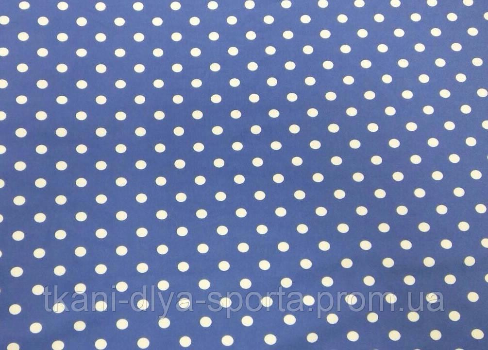 Бифлекс белые горохи на синем