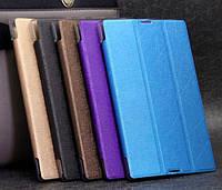 Кожаный чехол-книжка TTX Elegant Series для Apple iPad mini 4            Малиновый