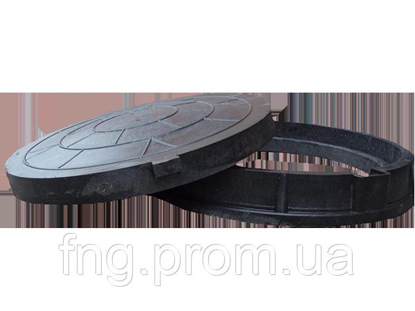 Люк садовый пластмассовый легкий №2 (черный) с замком
