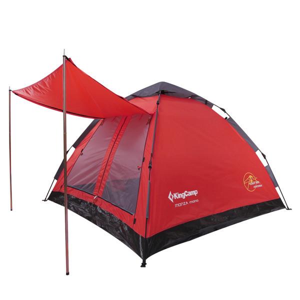 Палатка King Camp Monza Mono 3-х местная (KT3092) темно-красный