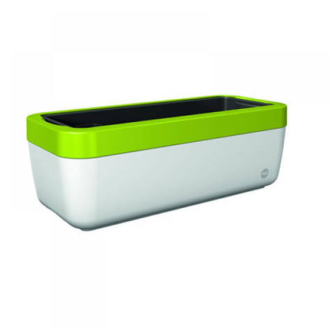 Оконный цветочный горшок MYBOX 50см (Белый\Зелёный), фото 2