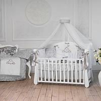 Детский комплект постельного белья  Mon bell L'collection серый 7 единиц