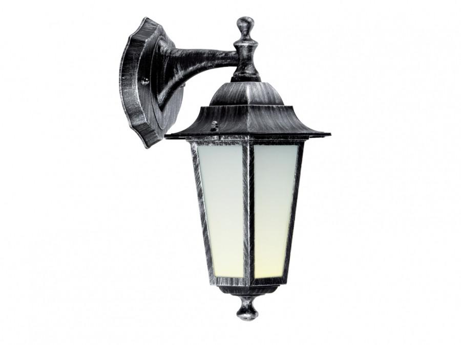 Светильник PALACE A002 черный-серебро садово-парковый Delux