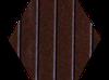 Пробковый компенсатор (порожек) RG-108 Тёмный орех