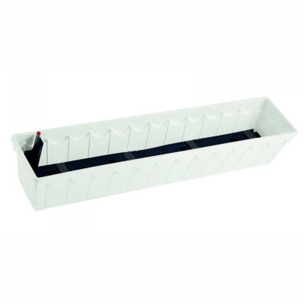 Балконный вазон PALAZZO 50х22х18, белый