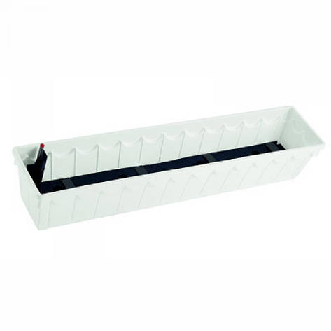 Балконный вазон PALAZZO 50х22х18, белый, фото 2