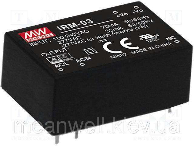 IRM-03-3.3  Блок питания Mean Well  3.3VDC, 900mA