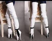 Балетные лаковые высокие ботфорты на шпильке, фетиш. Белые и черные