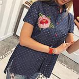 Женская стильная джинсовая рубашка с вышивкой (2 цвета), фото 2