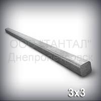 Шпоночный материал 3х3 сталь 45 ГОСТ 8787-68 (DIN 6880) метровый
