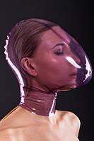 БДСМ маска из латекса отверстием для  дыхания