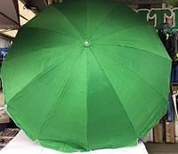 Зонт для сада, пляжа, торговли круглый однотонный двойная ткань 4 м с серебряным напылением