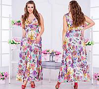 Женское платье в пол, размер 50-52, 54-56, 58-60. Ткань сатин. В наличии 3 цвета