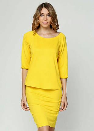 Женский костюм, желтый, фото 2