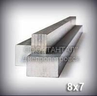 Шпоночный материал 8х7 сталь 45 ГОСТ 8787-68 (DIN 6880) метровый