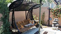 """Садовые качели """"Дубаи"""" черного/коричневого цвета, материал основы - дуб, фото 2"""