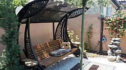 """Садовые качели """"Дубаи"""" черного/коричневого цвета, материал основы - дуб, фото 3"""
