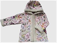 "Детская куртка ""Дублёнка"" розовая для девочки VITALIYA"