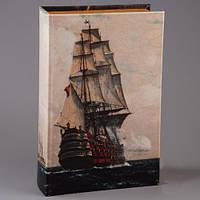 """Книга-сейф морская тематика """"Линейный корабль"""" подарок мужчине на день рождения"""