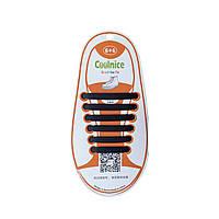 Детские силиконовые шнурки Черные, фото 1