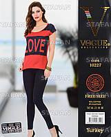 Женский комплект футболка+лосины Турция. VOGUE 10227. Размер 44-46.