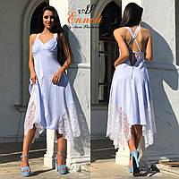 Платье тм Enneli. Размер S M L .Ткань вискоза с хлопком+ кружево(17000)