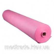 Простирадло одноразова комфорт 0,8x100 п. м в рулоні рожева