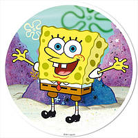 """Вафельная картинка """"Губка Боб"""" круг на А4 Галетте -01262"""