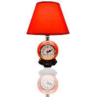 Лампа настольная с часами  008